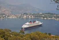 Disney Cruise Line fait escale à Villefranche sur Mer lors de ses croisières méditerranéennes