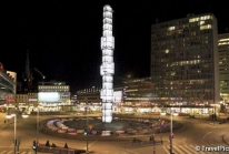 Sergels Torg, le Châtelet de Stockholm et son obélisque de verre
