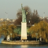 Statue de la Libert de lle des cygnes  Paris  une maquette signe Bartholdi