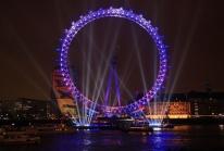 Le London Eye s'embrase pour la Nouvelle Annnée 2009