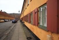 Nyboder, ruelles d'anciennes maisons jaunes atypiques