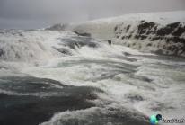 Gullfoss, les chutes d'or islandaises sous la glace