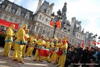 Défilé du Nouvel An Chinois à Paris – Dragons et lions à l'Hôtel de Ville pour l'année du Tigre