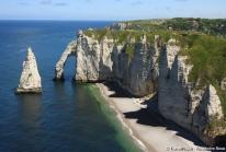 Falaises d'Etretat – l'arche et l'aiguille creuse d'Arsène Lupin