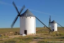 Les moulins à vent de Don Quichotte à Campo de Criptana dans la Mancha